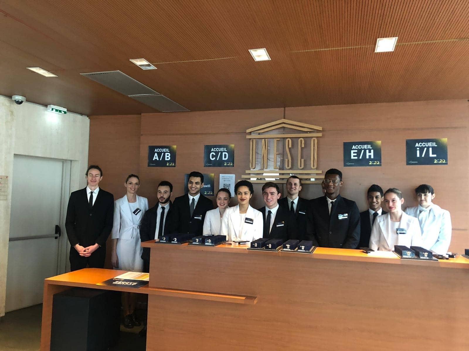 hôtes et hôtesses d'accueil - Unesco - Marianne International